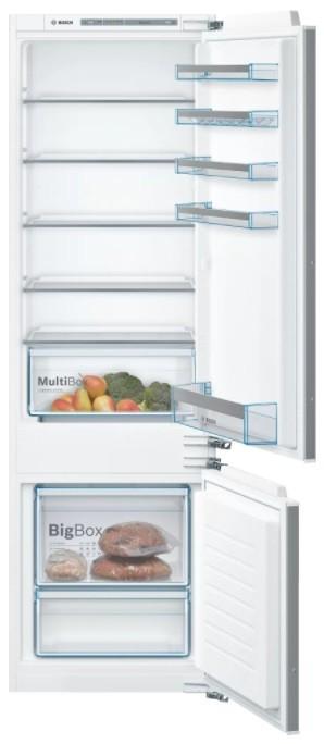 Biele chladničky s mrazničkou Vstavaná kombinovaná chladnička Bosch KIV87VFF0, A++