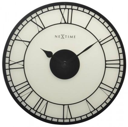 Big Ben - hodiny, nástenné, guľaté (sklo, čierne)