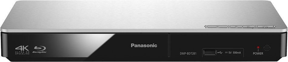 Blu-Ray prehrávače Panasonic DMP-BDT281EG, strieborný