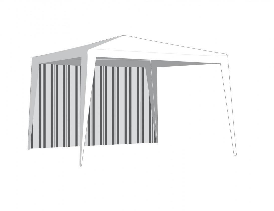 Bočnice záhradného stanu bez okna (biela, zelená)