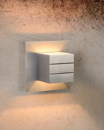 Bok - nástenné osvetlenie, 33W, G9 (strieborná)
