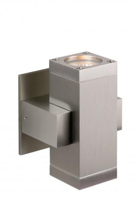Bok - nástenné osvetlenie, 35W, 2xGU10 (strieborná)