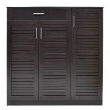 Botník Berri (2x dvere, 1x zásuvka, wenge)