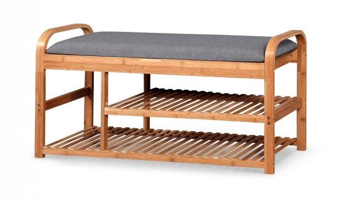 Botník Tarso (drevo, sivá)