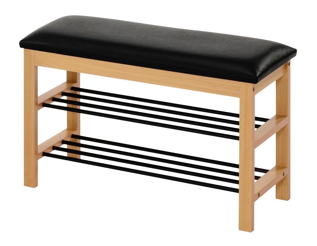 Botníky Botník Abrego (drevo, čierna)