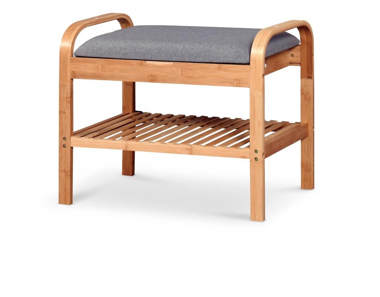 Botníky Botník Tarso mini (drevo, sivá)