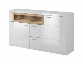 Box In - Komoda, 2 dvierka, 2 zásuvky