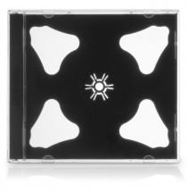 Box na 2 CD COVER IT, 10 ks/bal, čierny
