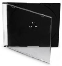 Box na CD COVER IT, slim, 10 ks/bal, čierny/číry