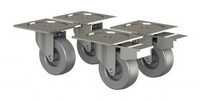 Box - nábytkové kolieska, 4 kusy (sivá)