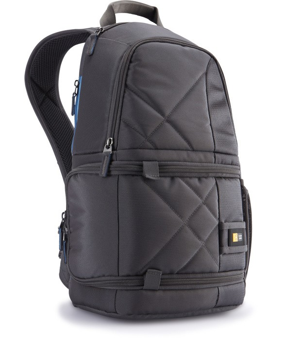 Brašne, ruksaky CASELOGIC CL-CPL109GY Fotobatoh, vkladanie zboku (šedý),polyester