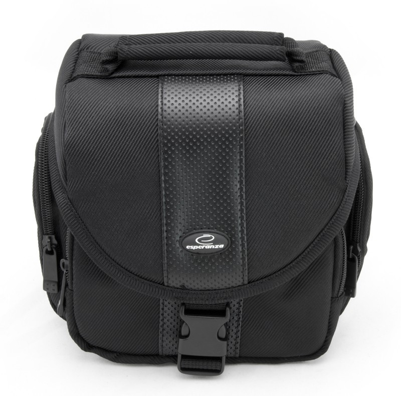 Brašne, ruksaky Esperanza ET145 Taška pre zrkadlovku,čierna VADA VZHĽADU,ODRENINY