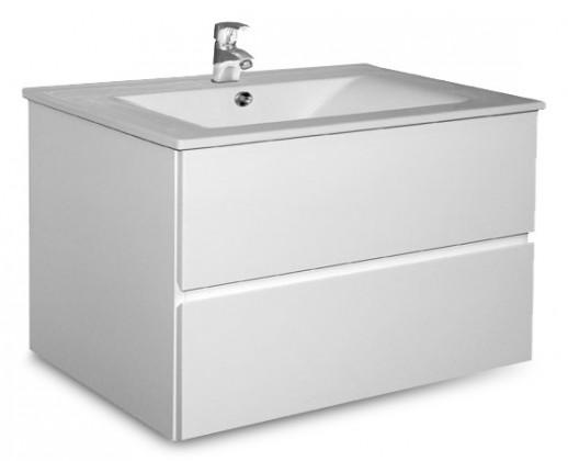 Brest - Skrinka s umývadlom 75 cm (biela vysoký lesk)