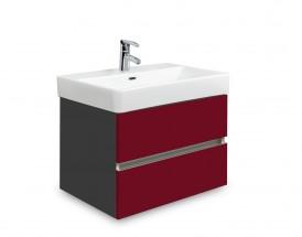 Brisbane - skriňa s umývadlom Laufen Pro S 55cm (antracit/bordó)