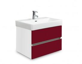 Brisbane - skriňa s umývadlom Laufen Pro S 55cm (biela/bordó)