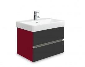 Brisbane - skriňa s umývadlom Laufen Pro S 55cm (bordó/antracit)