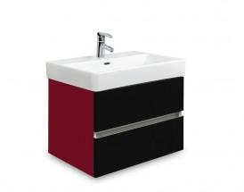 Brisbane - skriňa s umývadlom Laufen Pro S 55cm (bordó/čierna)