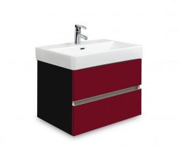 Brisbane - skriňa s umývadlom Laufen Pro S 55cm (čierna/bordó)