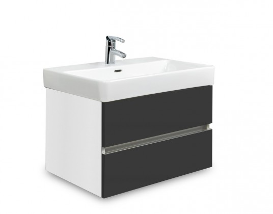 Brisbane - skriňa s umývadlom Laufen Pro S 60cm (biela/antracit)