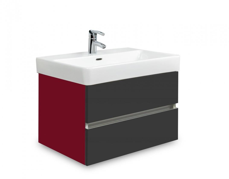 Brisbane - skriňa s umývadlom Laufen Pro S 60cm (bordó/antracit)