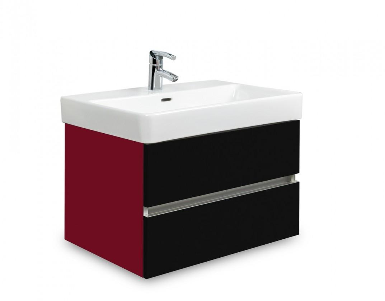 Brisbane - skriňa s umývadlom Laufen Pro S 60cm (bordó/čierna)