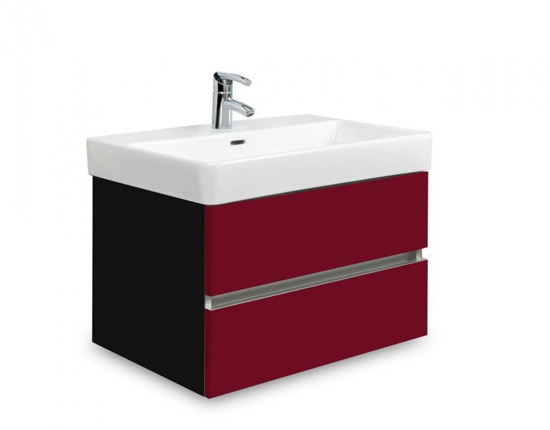 Brisbane - skriňa s umývadlom Laufen Pro S 60cm (čierna/bordó)