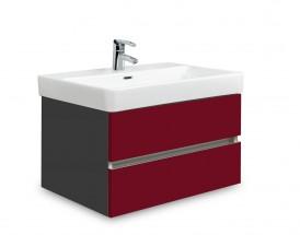 Brisbane - skriňa s umývadlom Laufen Pro S 65cm (antracit/bordó)