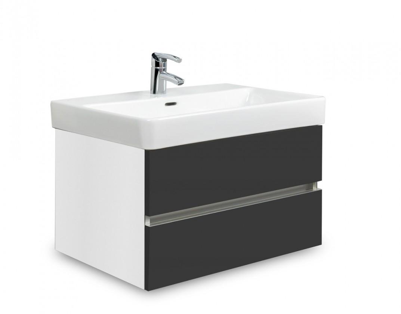 Brisbane - skriňa s umývadlom Laufen Pro S 65cm (biela/antracit)