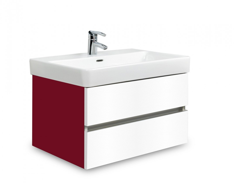 Brisbane - skriňa s umývadlom Laufen Pro S 65cm (bordó/biela)