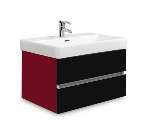 Brisbane - skriňa s umývadlom Laufen Pro S 65cm (bordó/čierna)