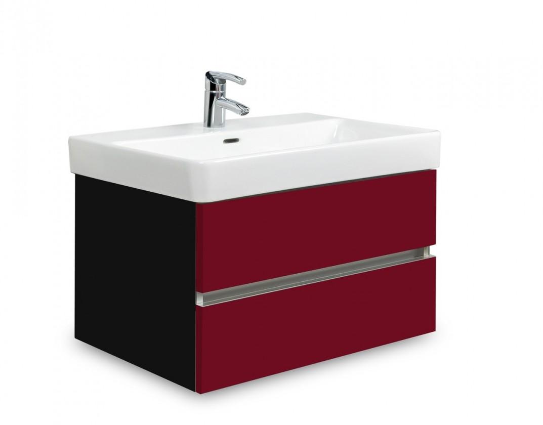 Brisbane - skriňa s umývadlom Laufen Pro S 65cm (čierna/bordó)