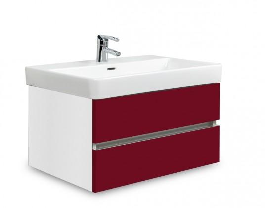 Brisbane - skriňa s umývadlom Laufen Pro S 70cm (biela/bordó)
