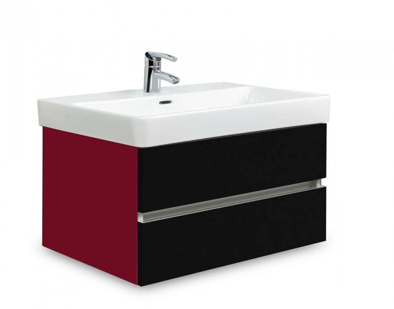 Brisbane - skriňa s umývadlom Laufen Pro S 70cm (bordó/čierna)