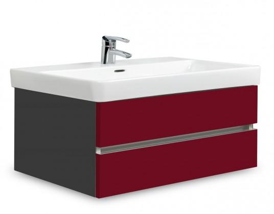 Brisbane - skriňa s umývadlom Laufen Pro S 85cm (antracit/bordó)