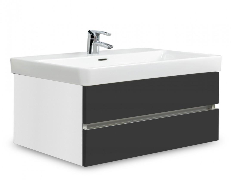 Brisbane - skriňa s umývadlom Laufen Pro S 85cm (biela/antracit)