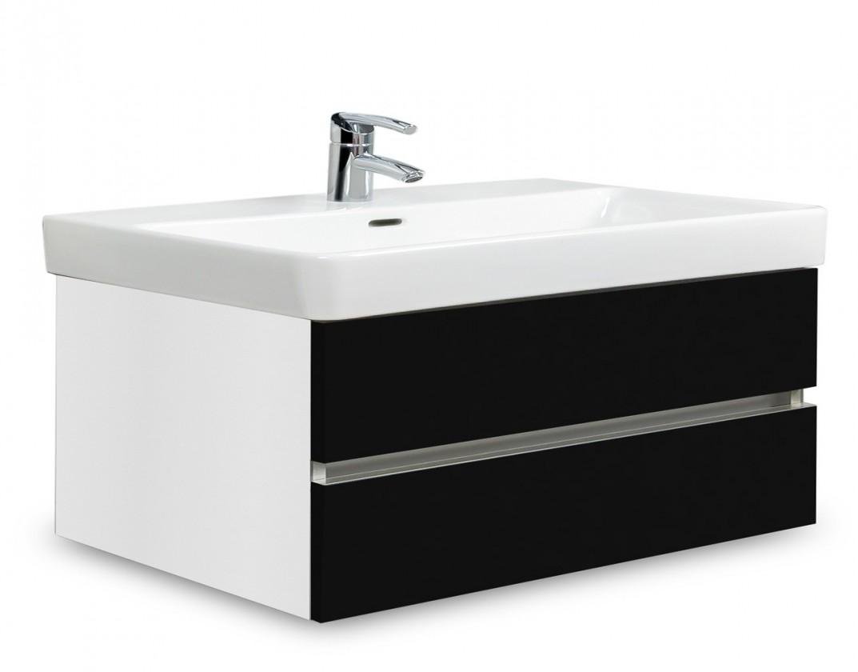 Brisbane - skriňa s umývadlom Laufen Pro S 85cm (biela/čierna)