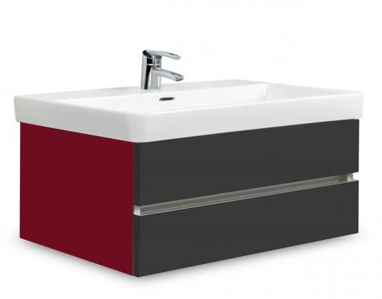 Brisbane - skriňa s umývadlom Laufen Pro S 85cm (bordó/antracit)