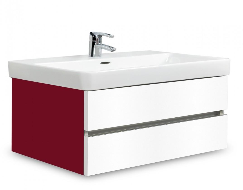 Brisbane - skriňa s umývadlom Laufen Pro S 85cm (bordó/biela)