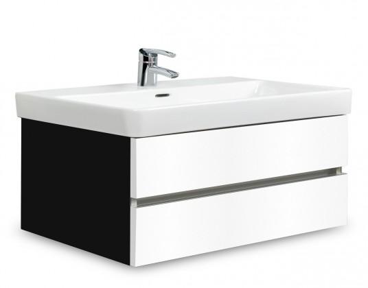 Brisbane - skriňa s umývadlom Laufen Pro S 85cm (čierna/biela)