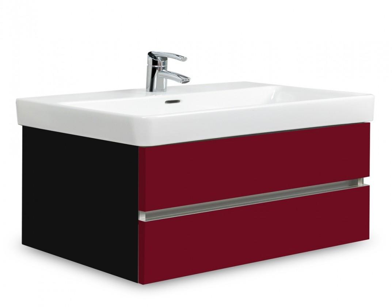 Brisbane - skriňa s umývadlom Laufen Pro S 85cm (čierna/bordó)