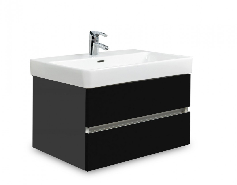 Brisbane - skriňa s umývadlom LaufenPro S 65cm (antracit/čierna)