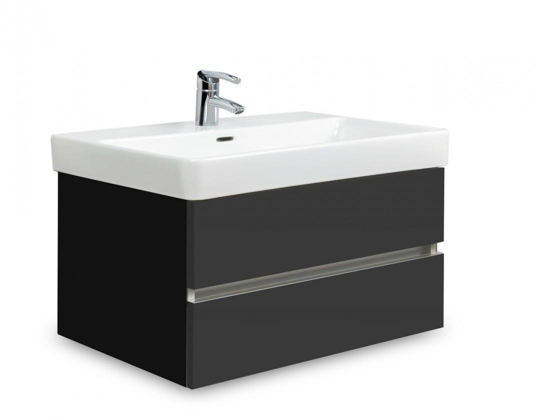 Brisbane - skriňa s umývadlom LaufenPro S 70cm (čierna/antracit)