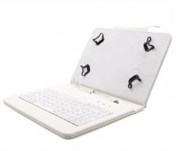"C-TECH PROTECT puzdro s klávesnicou 7 ""-7,85"" NUTKC-01, biele"