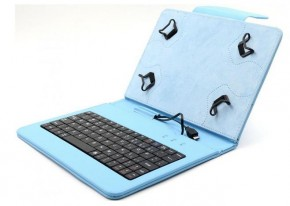 "C-TECH PROTECT puzdro s klávesnicou 7 ""-7,85"" NUTKC-01, modré"