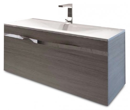 Caen - Skrinka s umývadlom 100 cm, 1 zásuvka (dub)