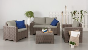 California 2 - Záhradný set, 2sedák, 2x kr., stolek (cappuccino)