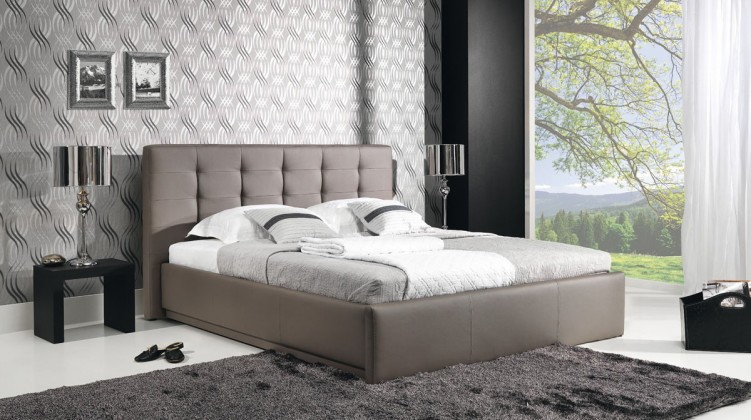 Čalúnená Avalon - Rám postele 200x160, s roštom a úložným priestorom