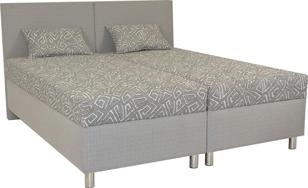Čalúnená Čalúnená posteľ Colorado 160x200, šedá, vrátane matracov a úp
