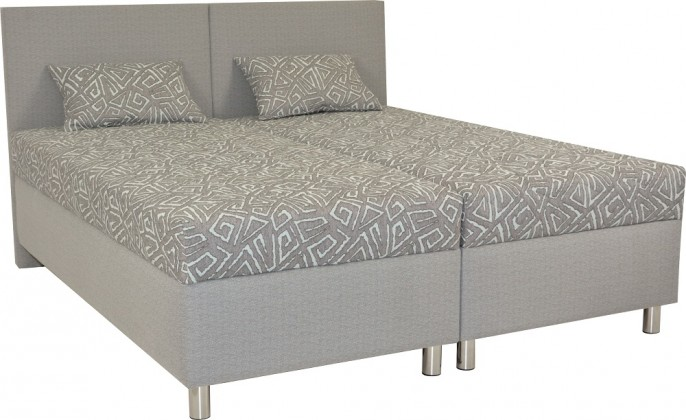 Čalúnená Čalúnená posteľ Colorado 180x200, šedá, vrátane matracov a úp