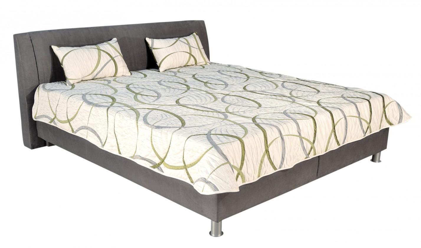 Čalúnená Čalúnená posteľ Discovery 160x200, šedá, vrátane pol. roštu a úp